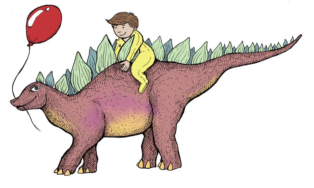 alcatraz illustrations illustrator margot tshirt design dinosaur babygro