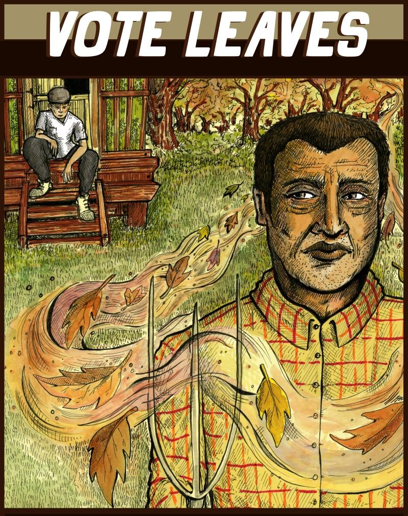 brazilian gothic alcatraz illustrations art grant wood digital art gypsies Vote Leaves comic